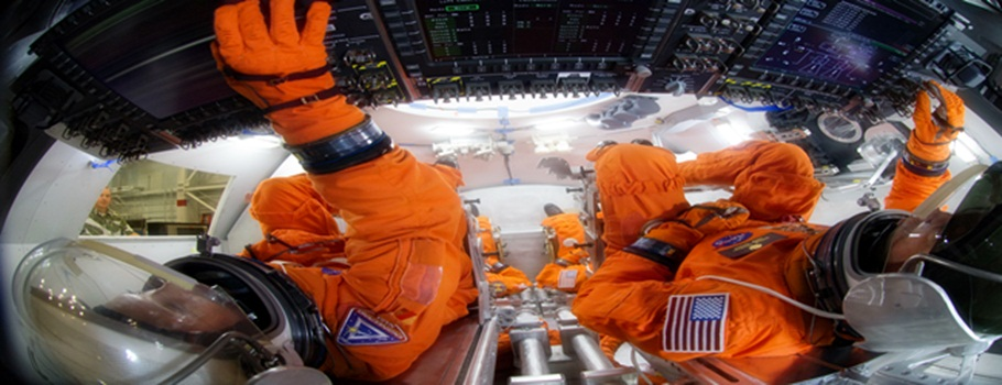 NASA Astronauts Train On Orion Spacecraft For Trip To Mars
