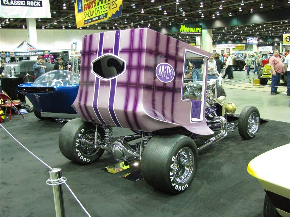 The Famous Dan Woods Milk Truck Show Car