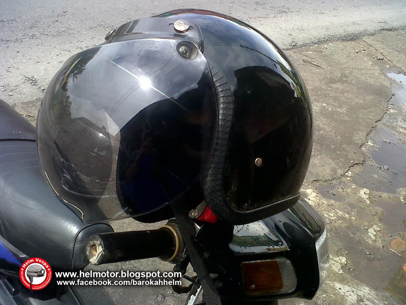 Helm Vespa Bogo Hitam Polos  Helm Vespa
