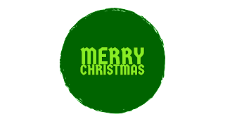 Dark green colour Merry Christmas png free download