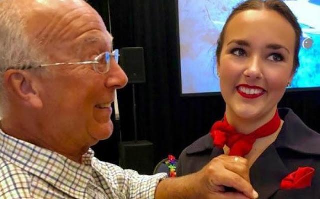 Чтобы встретить Рождество со своей дочерью-стюардессой, этому мужчине пришлось купить 6 билетов на самолет