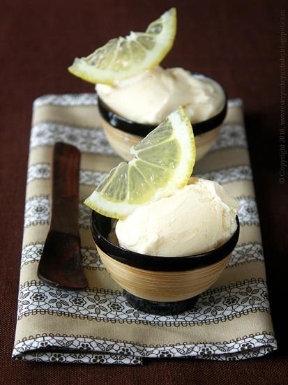 esencjonalne lody imbirowe z cytryną