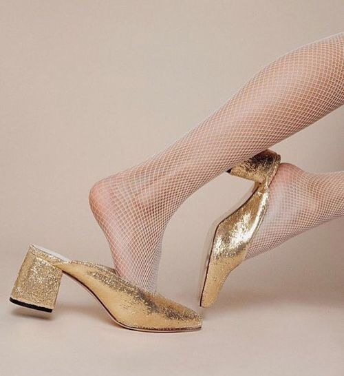 Party Mule Gold Sandals