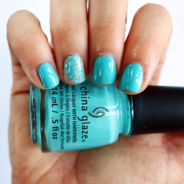 Tori's Pretty Nails - China Glaze Rain Dance the Night Away - Summer Nail Art