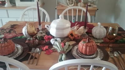 First Fall tablescape of 2016