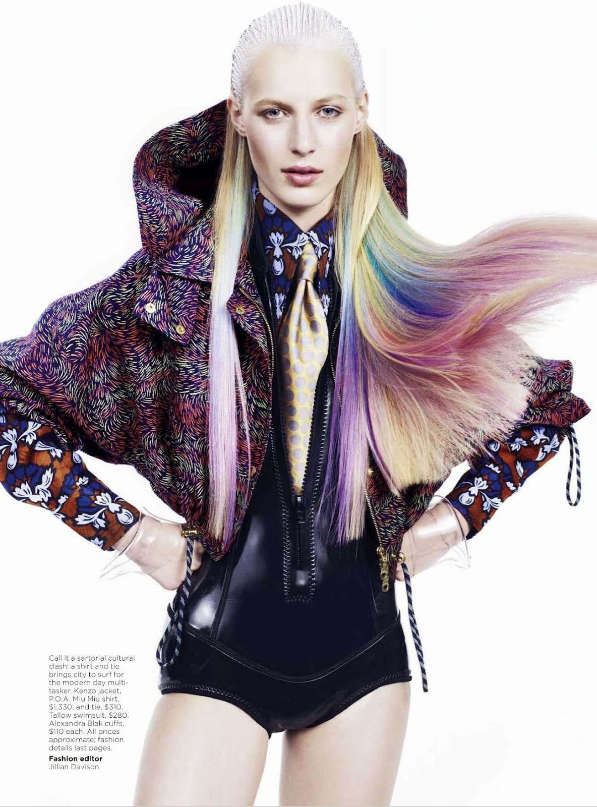 Julia Nobis Hot And Leggy For Vogue Australia
