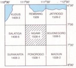 Indeks Peta Geologi Ngawi