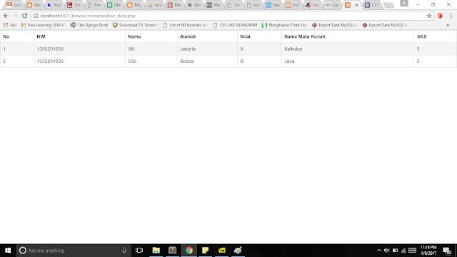 Gambar 1.4 Cara menampilkan data 3 table menggunakan php + mysql