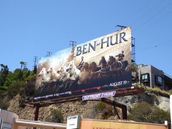 Ben Hur movie remake billboard
