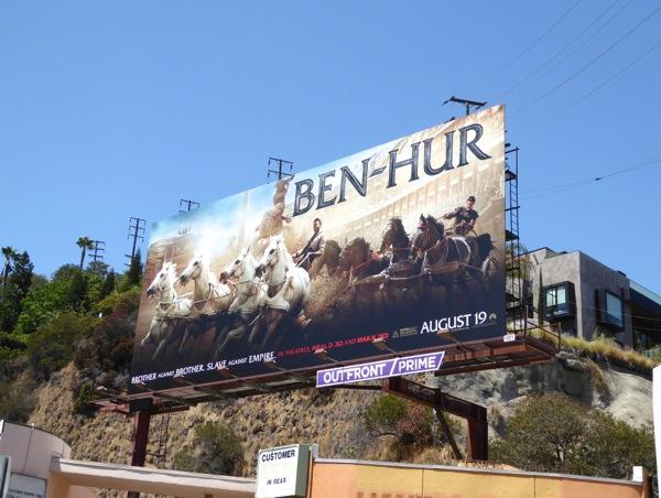 Ben Hur movie remake billboard