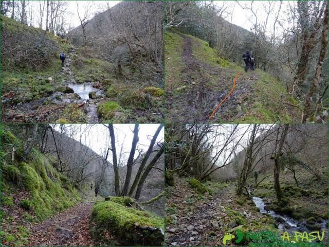 Senda del Chorrón y Foz del Río Valle: Bajando por el río Valle