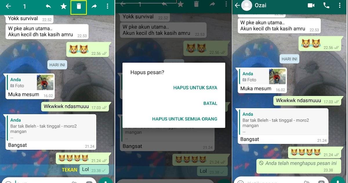 Cara Menarik Pesan Whatsapp sebelum dan sesudah 7 Menit ...