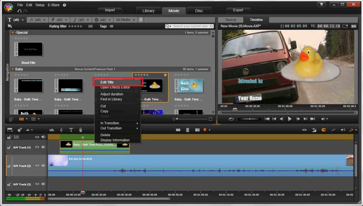 Powerful and creative video editing