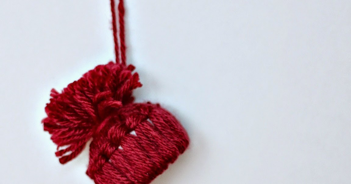 Make The Cut >> Fireflies and Jellybeans: Yarn Hat Ornament DIY (Made from ...