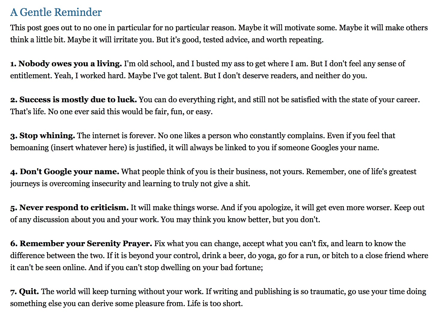 Publishing Guru Joe Konrath Recently Posted Some Great Advice On His  Website  Here  And I Make No Apology For Reprinting It Words Of Wisdom,  Truly