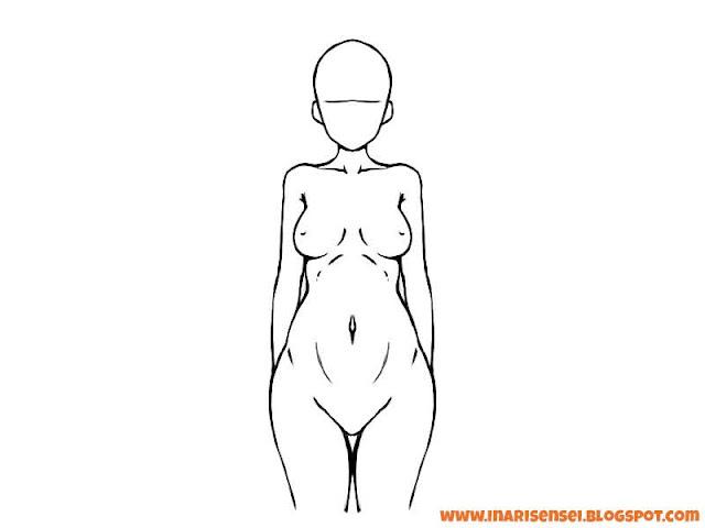 Buste et poitrine de femme / fille en manga