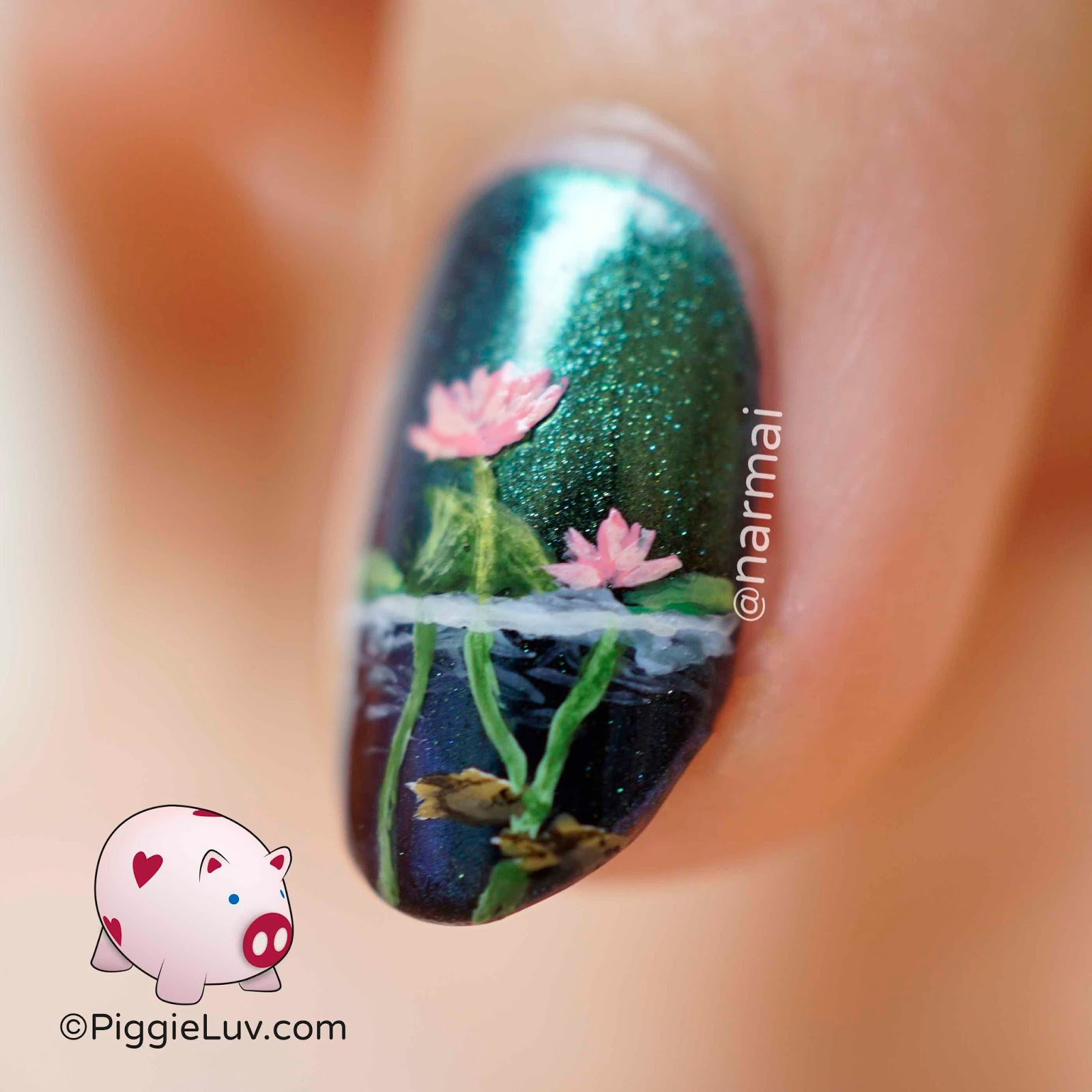PiggieLuv: Waterfront nail art