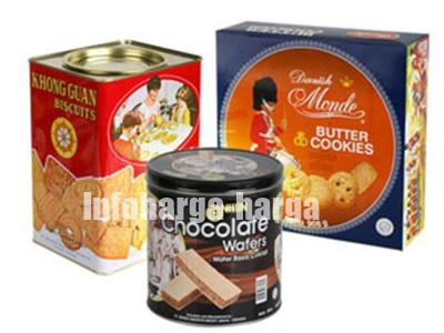 Biskuit Kue Kaleng Dan Wafer