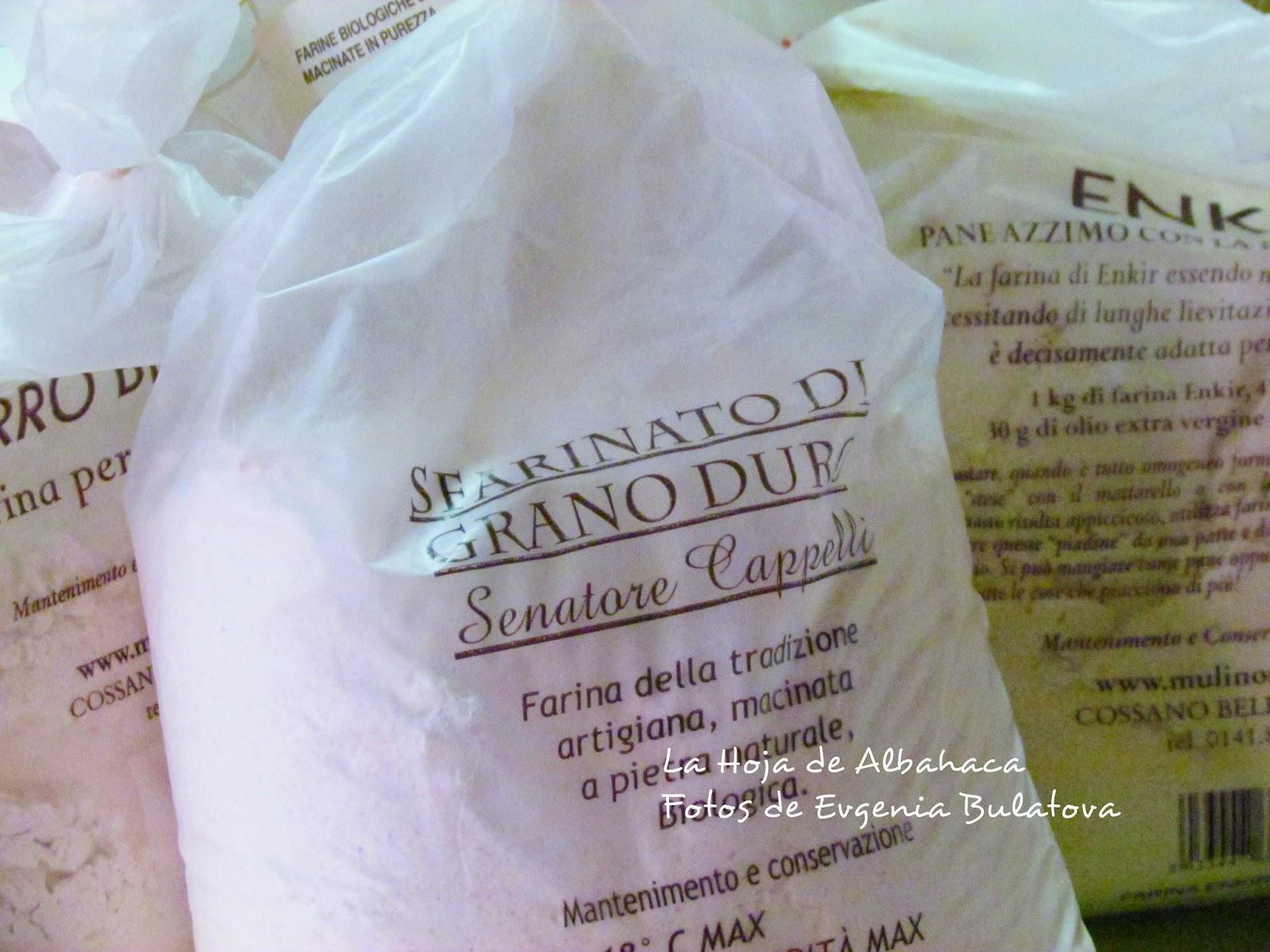 harina ecológicas de trigo duro, la tienda de la hoja, mulino marino