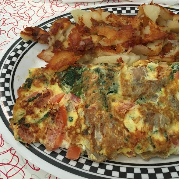 Omelettes at Bristol 45 Diner