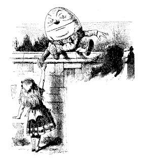 alice humpty dumpty looking glass illustration digital image