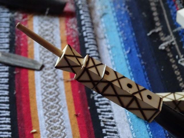 El Gastor Gaita gastoreña detalle madera pita cadiz andalucia