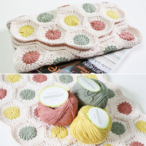 Hexagon Motif Bathmat - Free Pattern