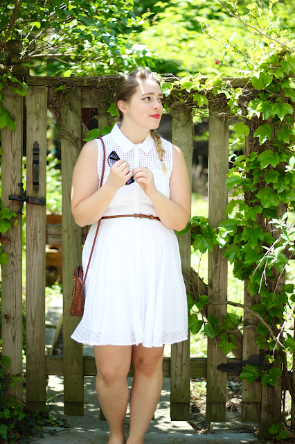 White Eyelet Shirtdress 8