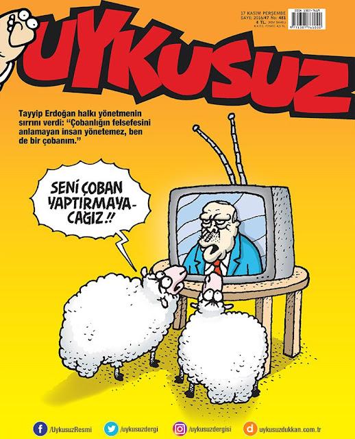 Uykusuz Dergisi | 17 Kasım 2016 Kapak Karikatürü