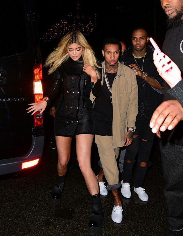 Kylie Jenner and her boyfriend Tyga at Fashion Week in New York