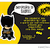 Convites de Aniversário Batman