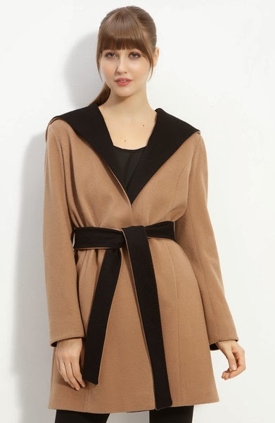 Hooded Wrap Coat for women