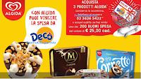 Logo Con Algida vinci 200 buoni spesa da 25€