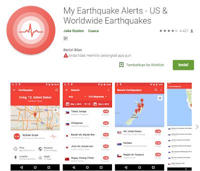 Aplikasi Pendeteksi Gempa My Earthquake Alerts