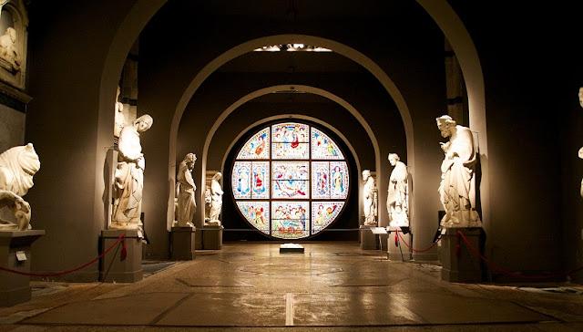 Obras expostas no Museu dell'Opera del Duomo em Siena