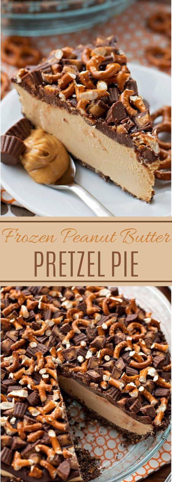 Frozen Peanut Butter Pie #chocolate #desserts