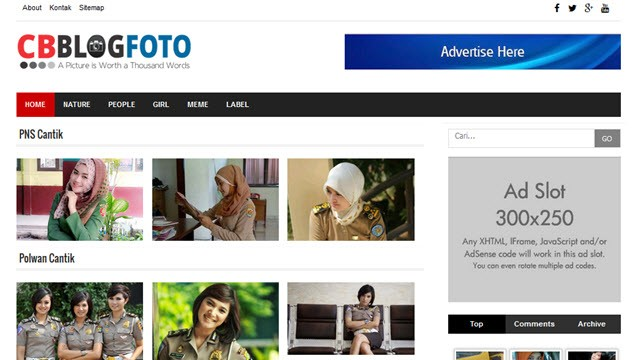 CB Photo Gallery Responsive Blogger Templates