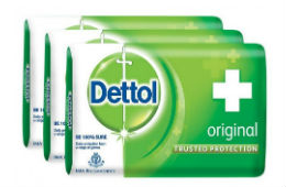 Dettol Soap Original 125g (Pack of 3) + Free Shipping For Rs 75 at Zotezo