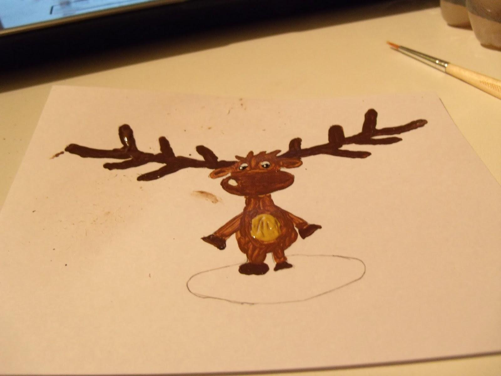 Weihnachtskarten Malen.Katdis Crazy World Weihnachtskarten Mit Acrylfarben Malen Auch Für
