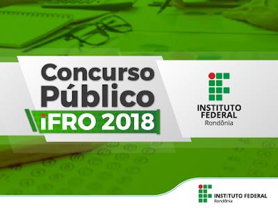 IFRO Concurso Público Técnico-Administrativo em Educação 2018