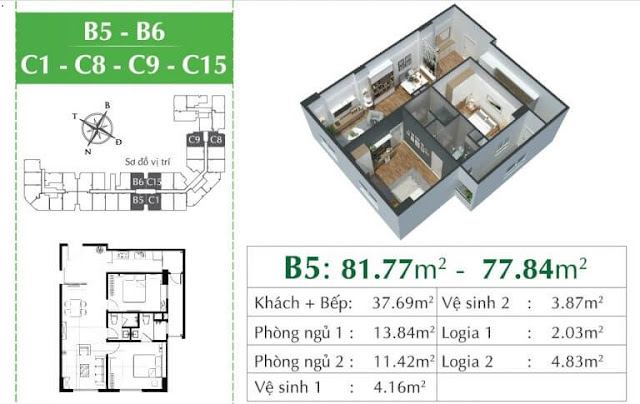 Căn B5 chung cư Ecocity Long Biên.
