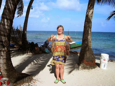 Langostas en Caribe,  Guna Yala, San Andrés, Panamá, round the world, La vuelta al mundo de Asun y Ricardo, mundoporlibre.com