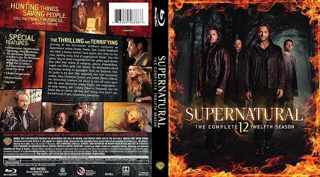 Supernatual Season 12 Bluray Cover (scan)