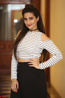 Manjusha in sleevelss crop top and black skirt at Darshakudu pre release ~  Exclusive Celebrities Galleries 090.JPG