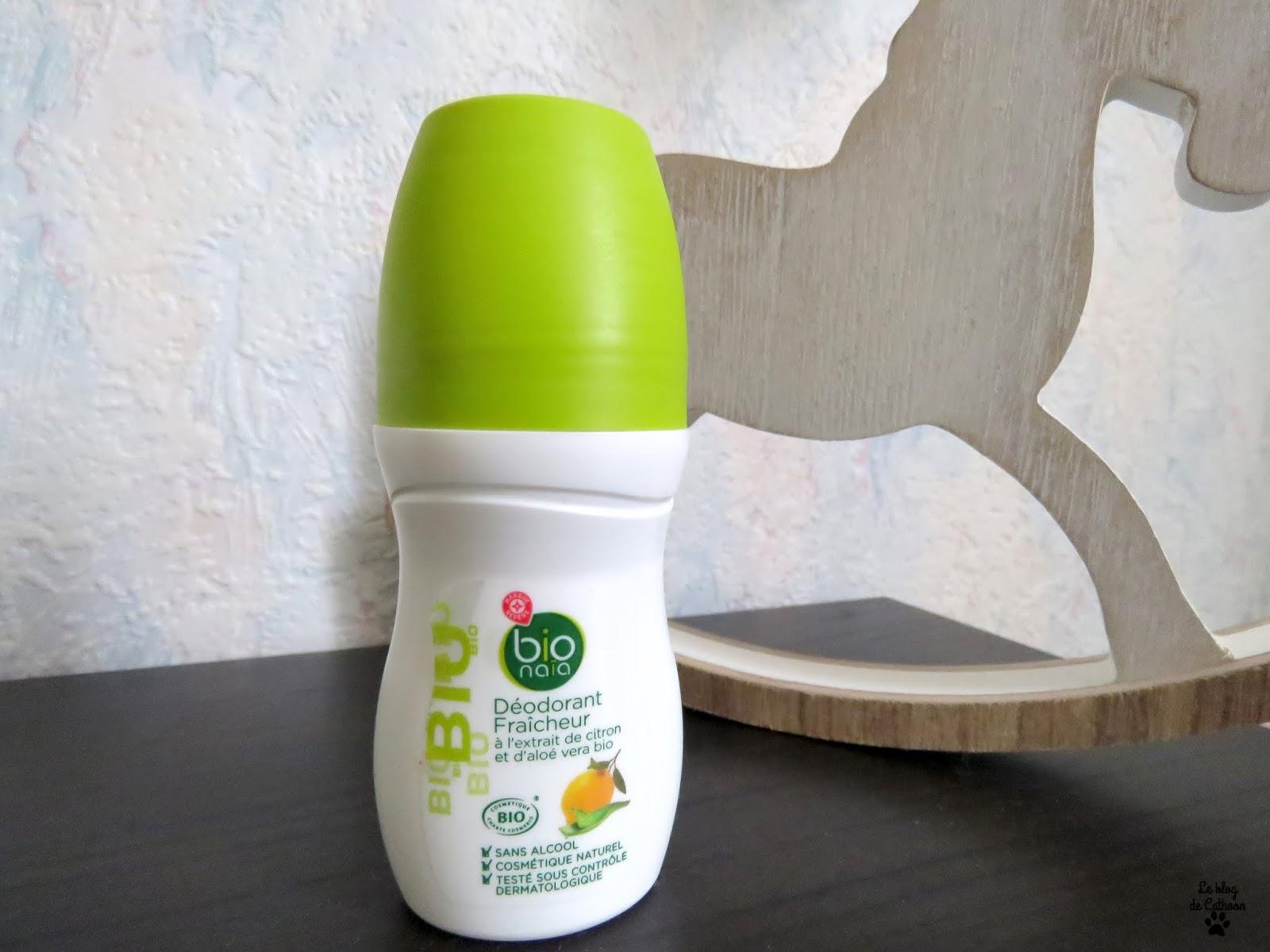 Déodorant Fraîcheur - Citron et Aloé Vera Bio - Bio Naïa (Leclerc)