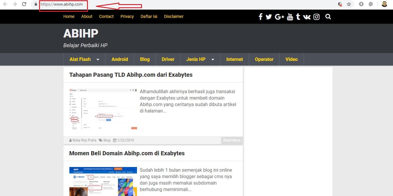 Akhirnya setelah beberapa jam domain sudah bisa aktif.