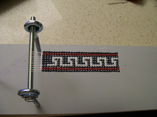 Seed bead bracelet on loom.