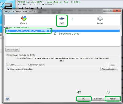Configurando o bios do emulador PCSX2 de PS2