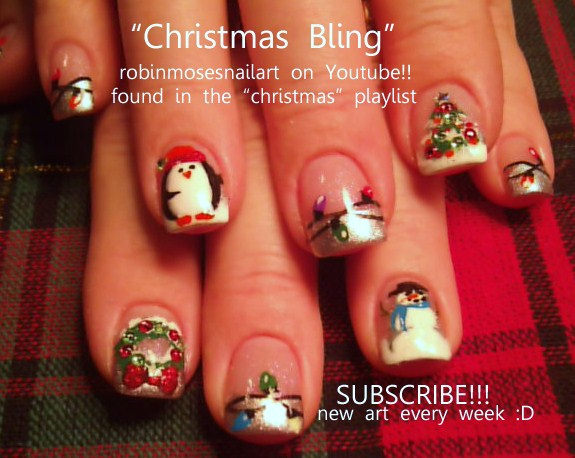 Nail Art By Robin Moses Christmas Nail Art Christmas Nails Cute
