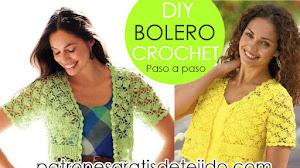 Patrones de Bolero Para Tejer a Crochet Con Paso a Paso del Motivo